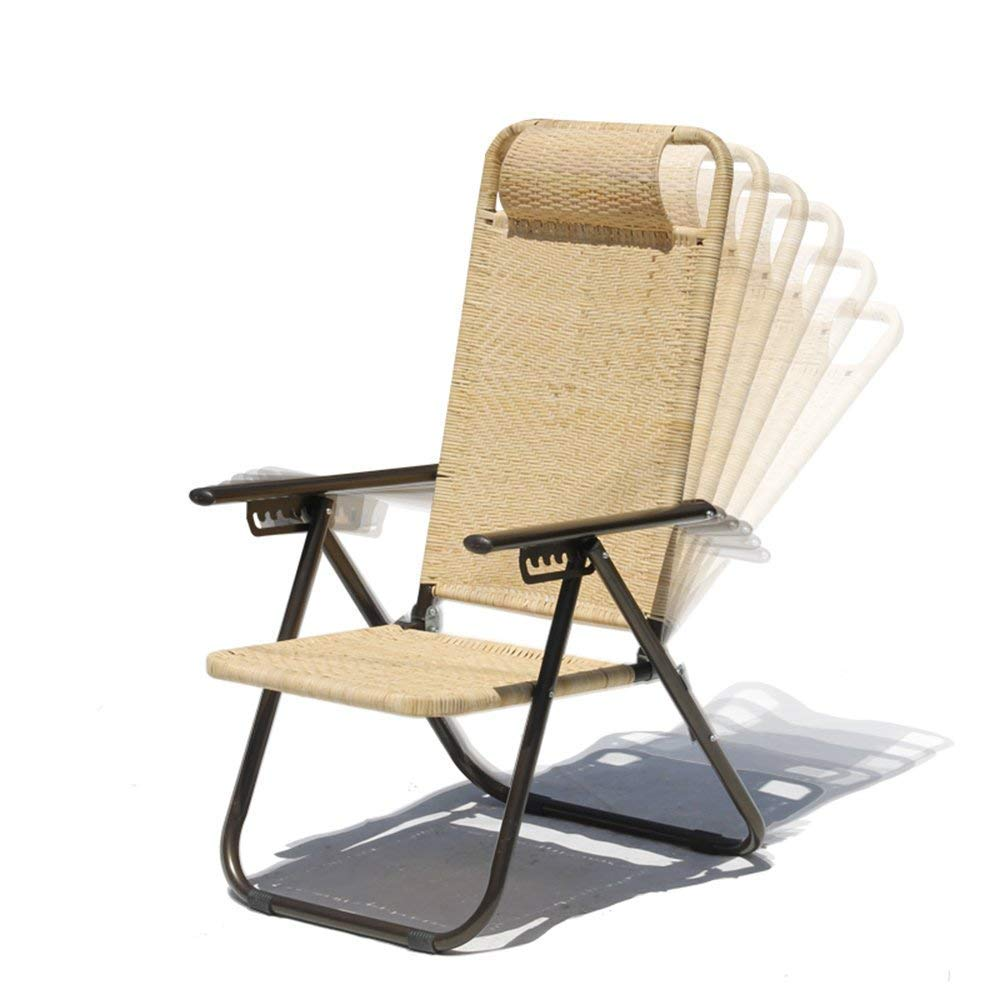 PLLP Dormitory Bed Chair, Student Lazy Chair, College Dormitory Artifact Casual Indoor Outdoor Cozy Breathable Backrest Chair Sun Loungers Folding Chair Rattan Lounge Chair
