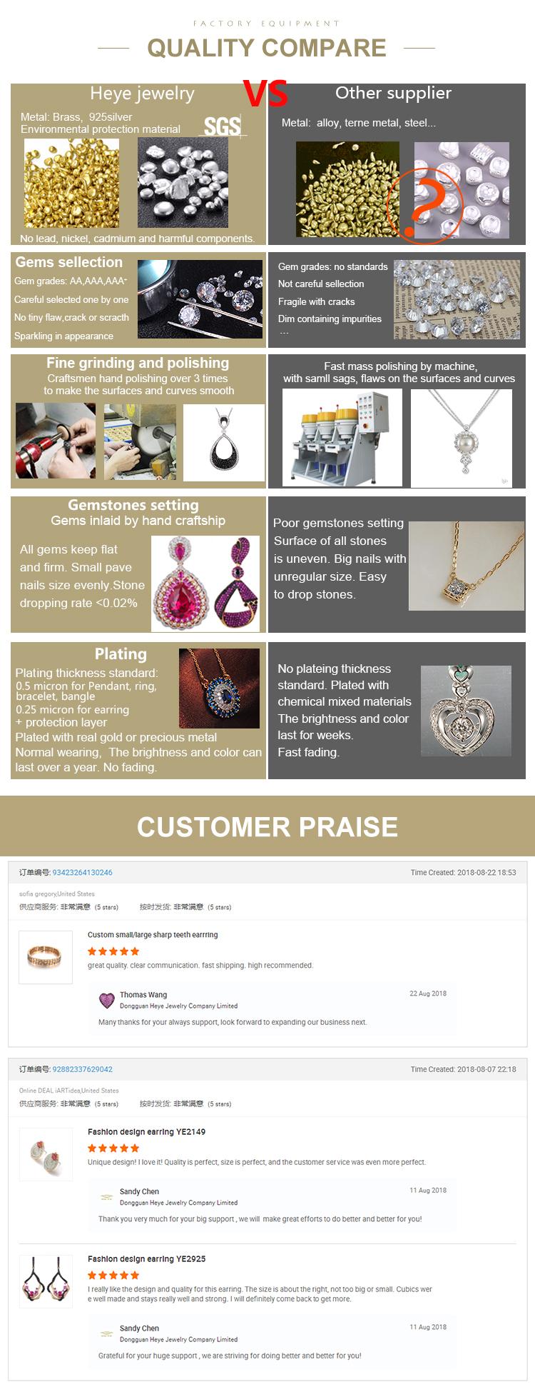2019 Custom Fashion Jewelry Elegant Charm 925 Silver Pendant Bridal Necklace