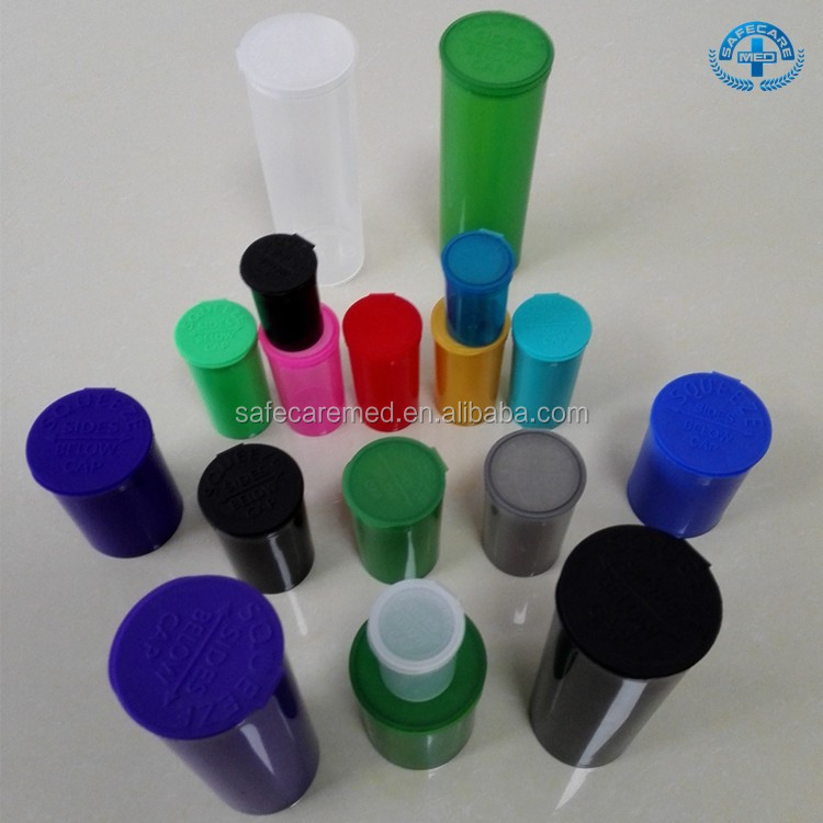Wholesale Hot Sales Plastic Medical Pop Top Pharmacy vials plastic vial pop up tops medical vials