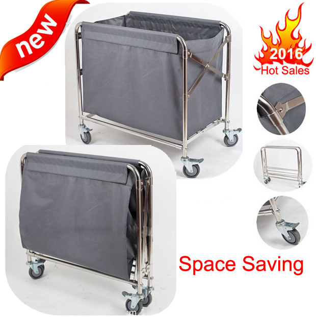 Space Saving Flat Pack Various Design Hotel Room Service Linen Laundry Trolley