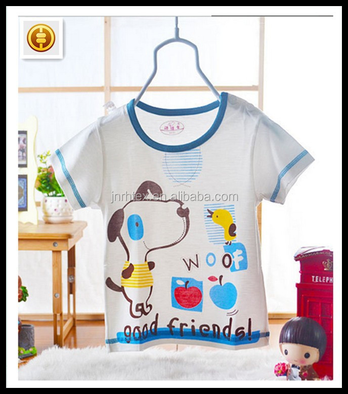 Eco-friendly cotton wellness baby t shirt with printed custom design