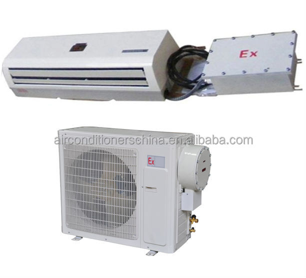 Explosion protected split air conditioner for hazardous area