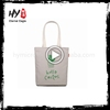 New style printed logo collapsible 10oz cotton canvas tote bag wholesale