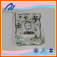 handmade train shape silver color baby frame, resin baby photo picture frame