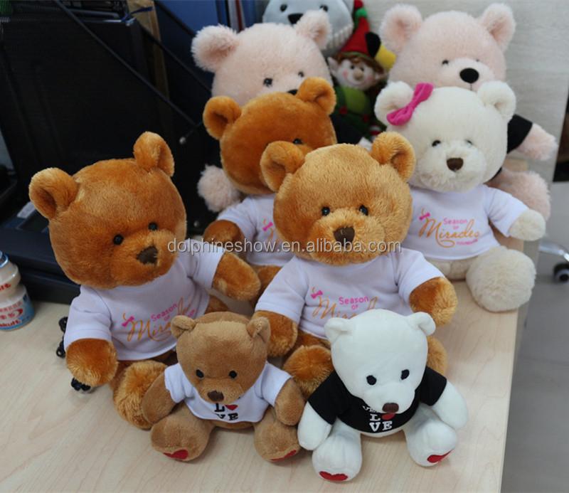Promotional Gifts Kids Plush Bear Soft Toys Branded Custom Logo Teddy Bear With T-shirt Wholesale Factory Teddy Bear