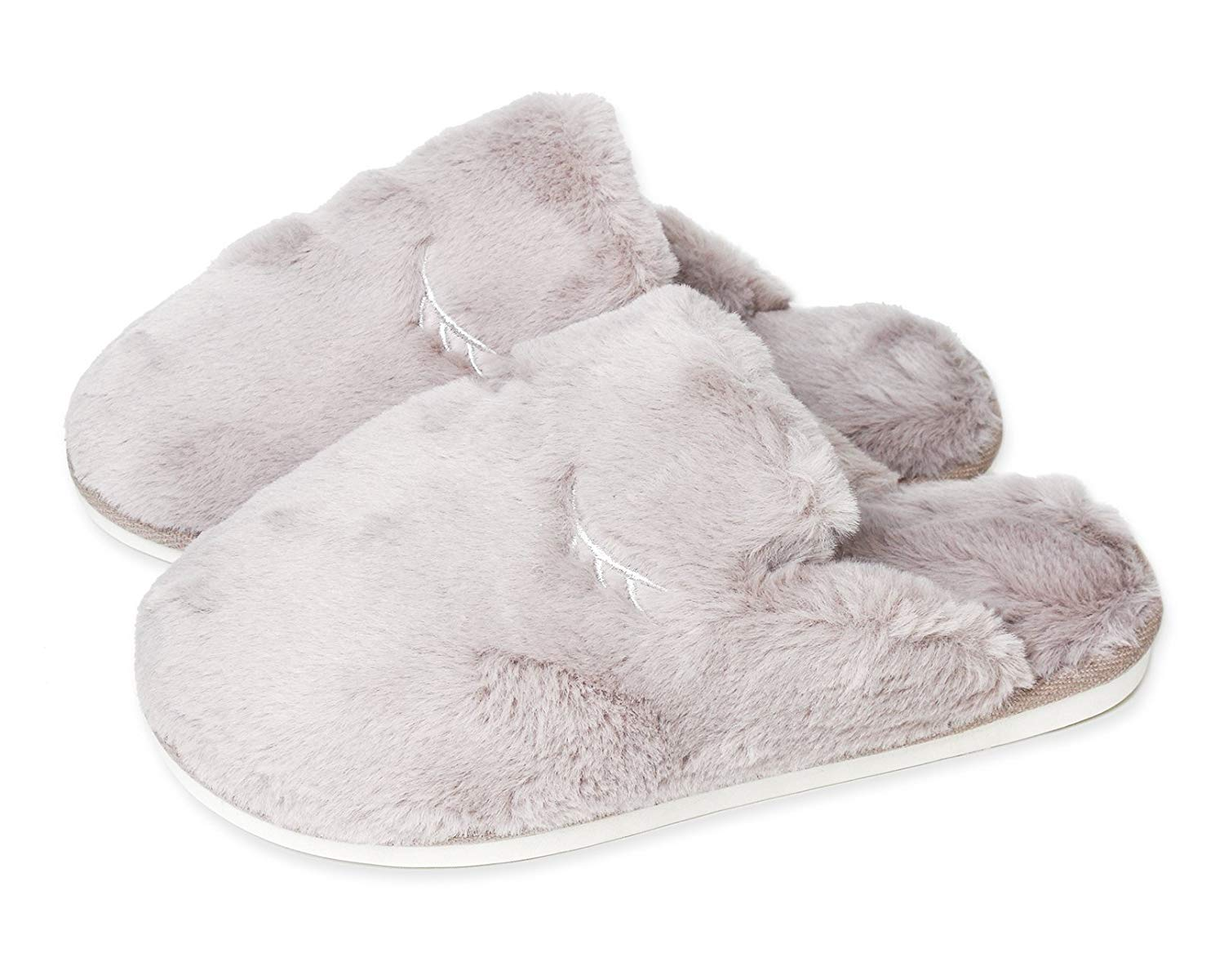 bfde9fb02801d Furry Slippers for Women – Comfy Fuzzy Fluffy Slip On, Cozy Indoor House  Slippers,