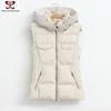 2015 Winter coats for Women out fashion clothes Hooded knit sweater zipper sleeveless cotton vest rtw female plus size jacket