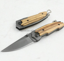 OEM wood handle 440 stainless steel blade pocket knife