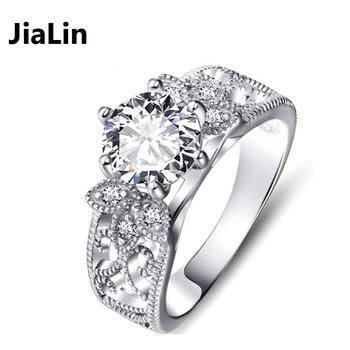 Fashion American Royal Diamond Engagement Rings Jewelry For Women