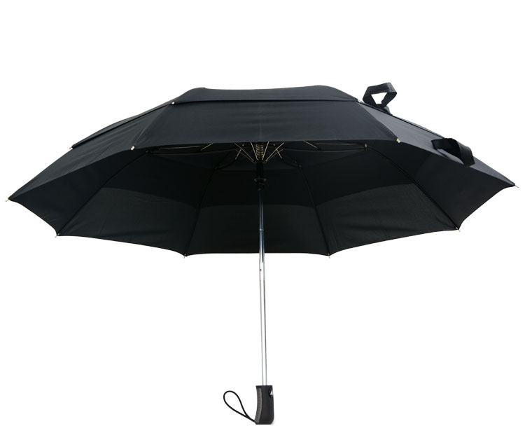 27 inch windproof solid fabric 2 foldable golf umbrella