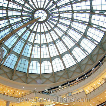 New Design !!! Steel And Alumium Structural Frame Glass Roof Skylight /  Glass Roof Framing Aluminum - Buy Glass Roof Framing