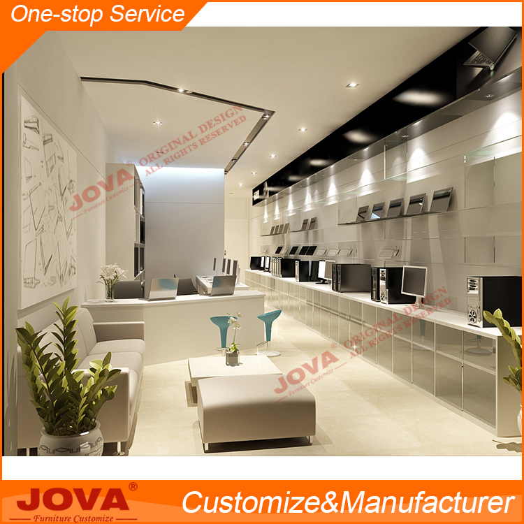 Customized electronic product display showcase for laptop store furniture