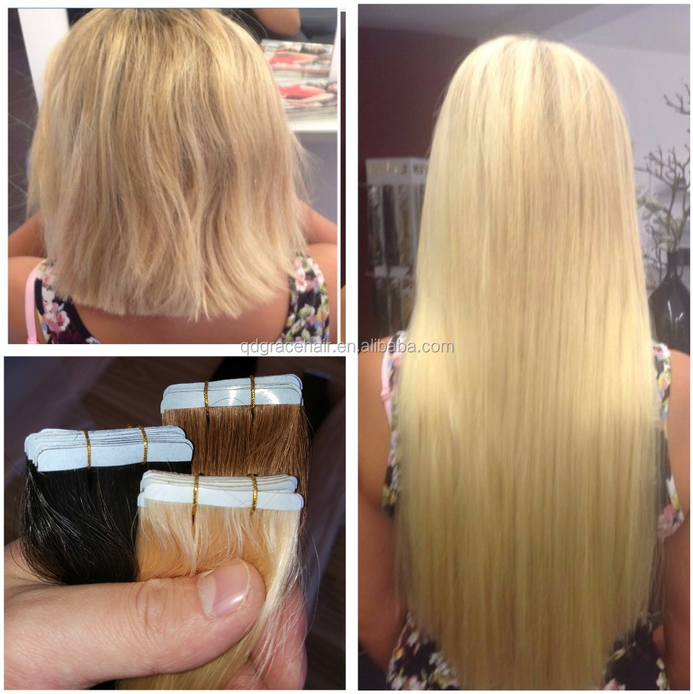 Cheap Human Hair Tape Hair Extensions Small Size Tape Extensions