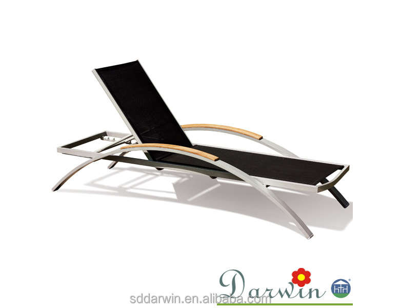 outdoor beach pool adjustable chaise lounge sun bed