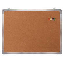 Office Used Aluminium Frame Bulletin Notice Message Pin Cork Board