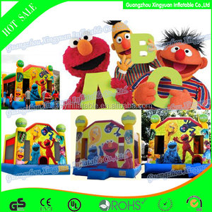 wholesale Custom giant jumping bouncy sesame street inflatable bouncer for sale