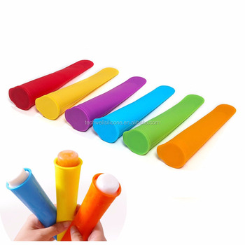 Set of 6 Food Grade Silicone Ice Pop Maker Molds/Popsicle Molds