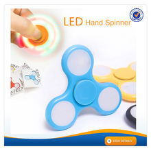 AWH201 Plastic spinners for games private mould light toy adult fidget spinner rainbow color flashing led hand spinner