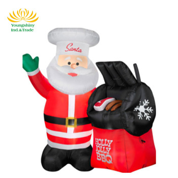 1.5 Meters Santa Claus Grill Inflatable Christmas Decoration Santa Claus