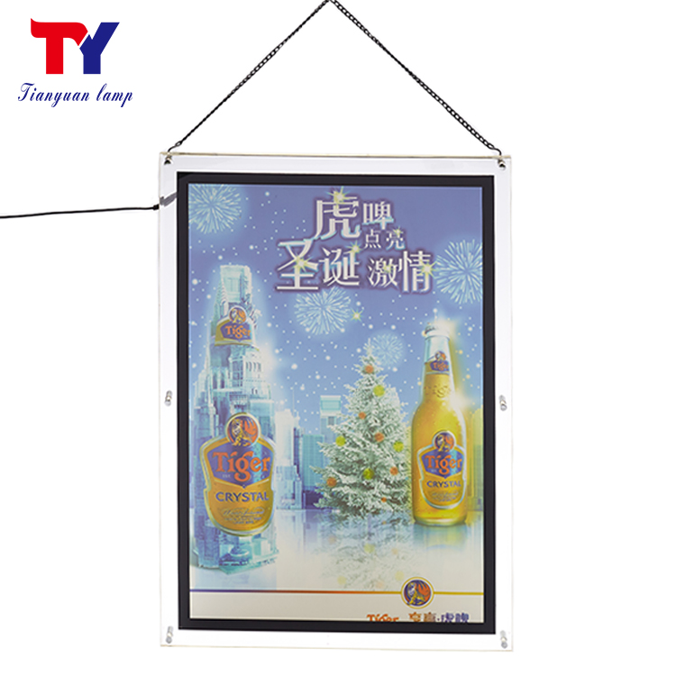 Wandmontage kleine fotografie crystal acryl super slim reclame led light box display verlichte reclameborden