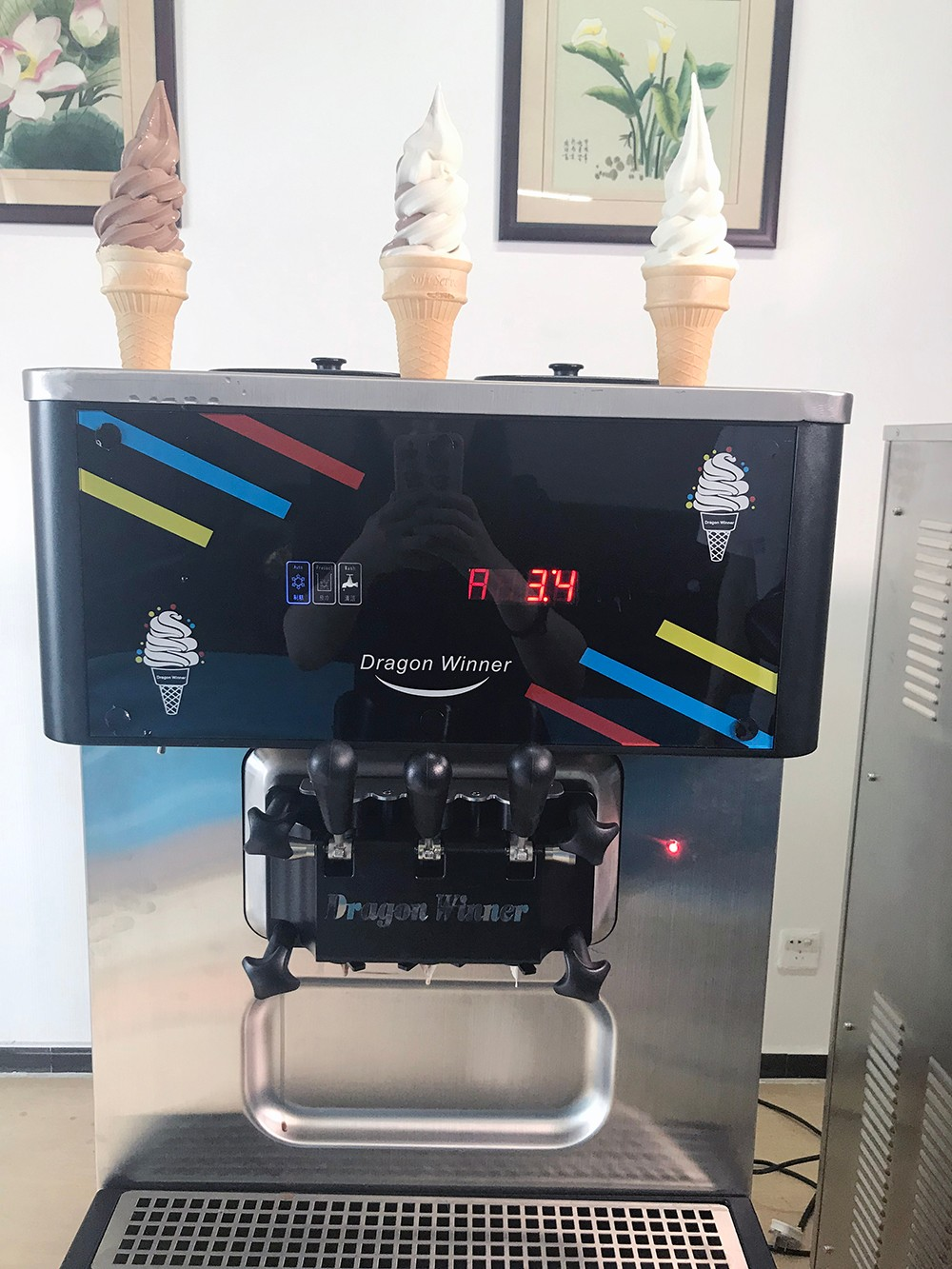 Oceanpower Soft 2+1mixed Commercial Ice Cream Machine ...