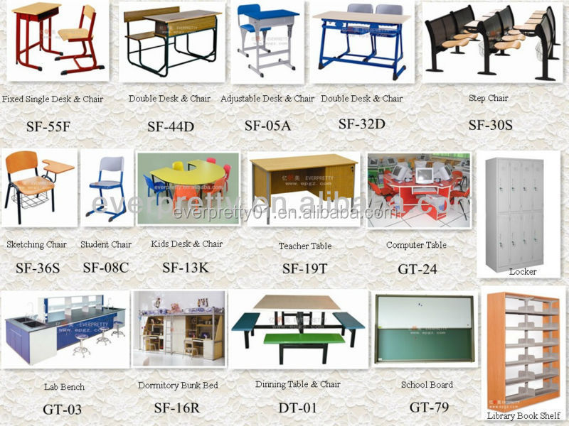 Modern Design School Classroom Furniture Student Double Desk And ...