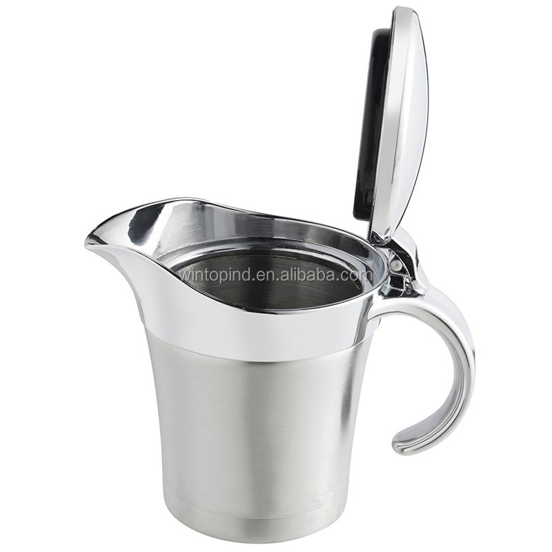 Stainless Steel Thermal Insulated Gravy Sauce Pot Boat
