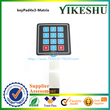 Factory Price 4x3 Matrix 12 key Membrane Switch Keypad