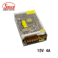 SMUN S-60-15 60W 15V 4A IP20 Aluminum Shell Switching Power Supply