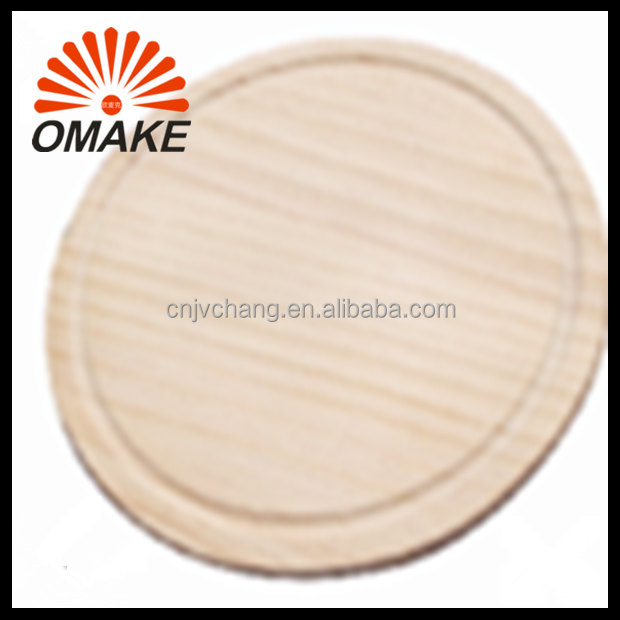 Economical Round Wooden Pizza Serving Pan, Pine Pizza Stone, Pizza Wooden Cutting Board