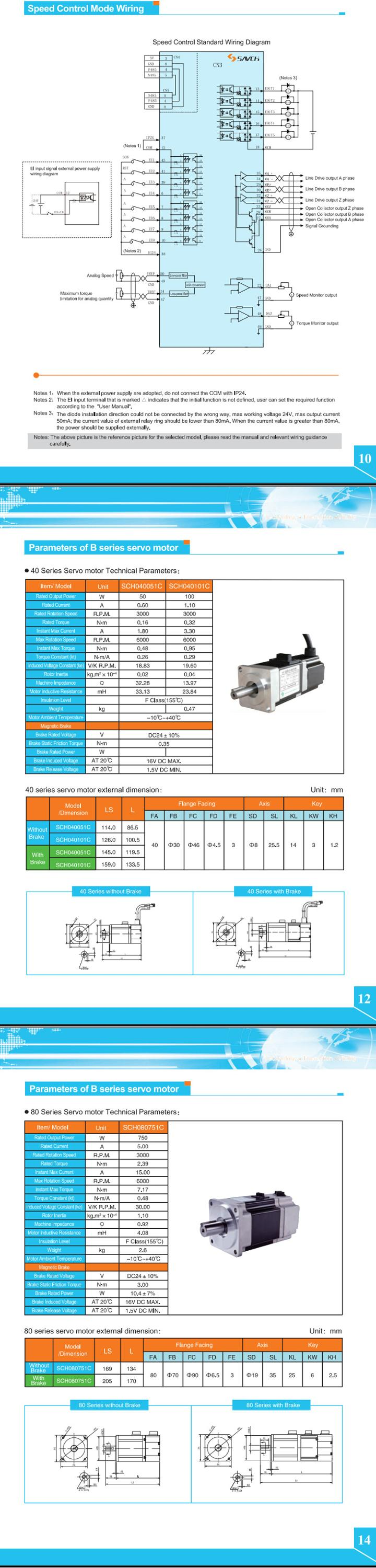 Sanch high position new performance 0.4kw~4.5kw single/three phase 220v/380v ac servo motor for ac servo drive