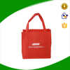 Red non woven tote bag with strong handles, bag for life