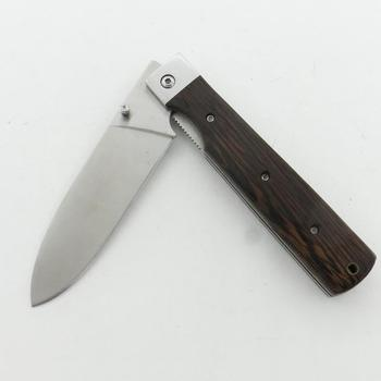 camping and outdoor wooden handle 440 Utility knife folding