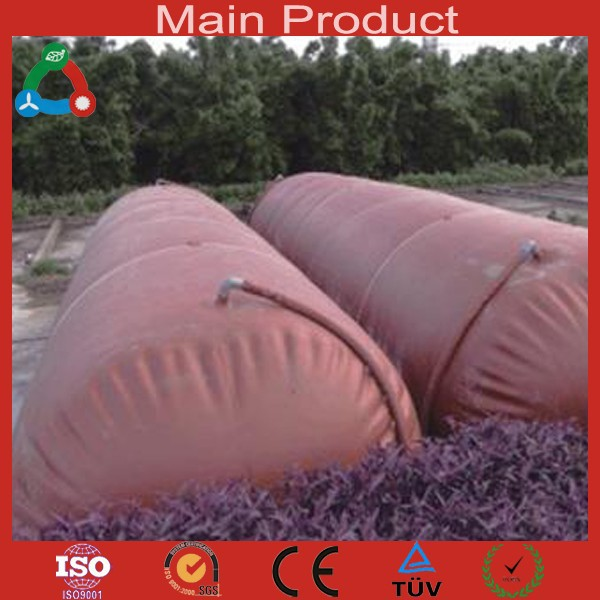 Mola 6m3 - 100m3 Flexible Biogas Storage Tank Durable Methane Digester 1.0mm 1.2mm Biogas PVC