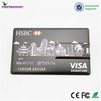 HSBC MasterCard credit card 2gb 16gb USB flash drive with color logo printed