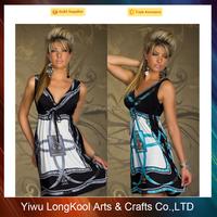 Promotion price women maxi dress silk night dress for 2017 season