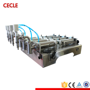 4F6-600 4 nozzles pneumatic piston filling machine/essential oil bottle filling machine volumetric piston filler for wholesales