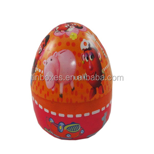 egg shaped container tin box wholesale