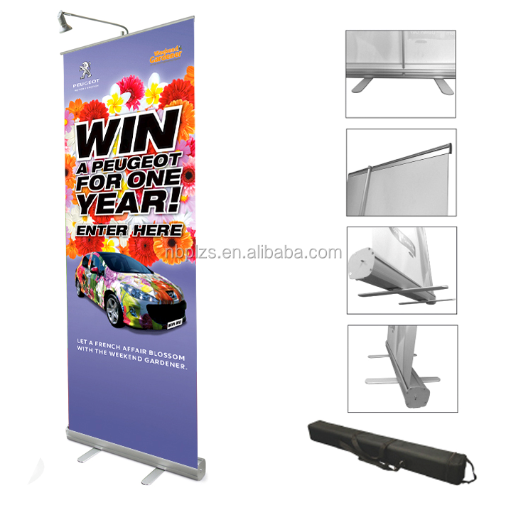 pull up banner size customized roller up banner