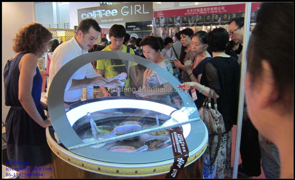 Round Gelato Ice Cream Showcase Round Ice Cream Freezer