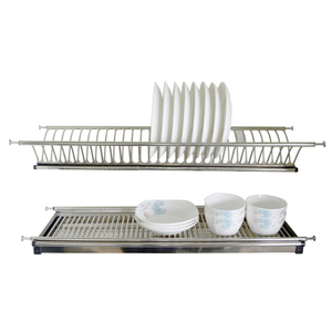 Wall mounted stainless steel dish plate rack, Kitchen hardware,2 tiers Kitchen dish plate rack
