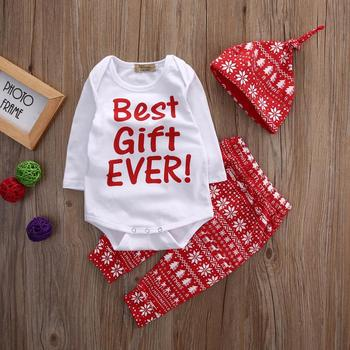 2018 fashion new toddler girls fancy christmas 3pcs clothing outfit