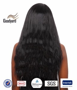 "Faithe Yaki 16"" Indian Remy Human Hair Full Lace Wig for Black Women"