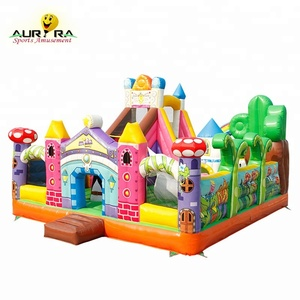 New finished inflatable fun city for kids inflatable fun city slide inflatable trampoline bouncer cheap on sale