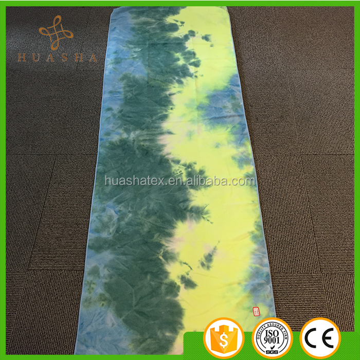 wholesale personalized tie dye terry cloth gym yoga mat towel microfiber yoga towel ON ALIBABA