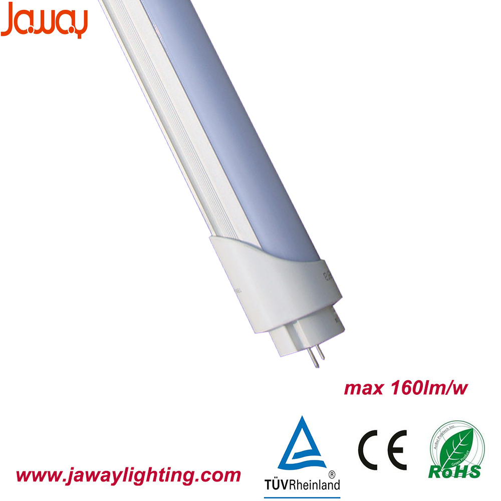 ce rohs Super brightness 160lm/w 2012 most popular led tube with 3 year warranty