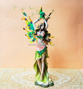 Charming and Sexy Resin Peacock Dancing Beauty Girl and animals Sculpture Gift Craft Furnishing for Home and Wedding Decoration