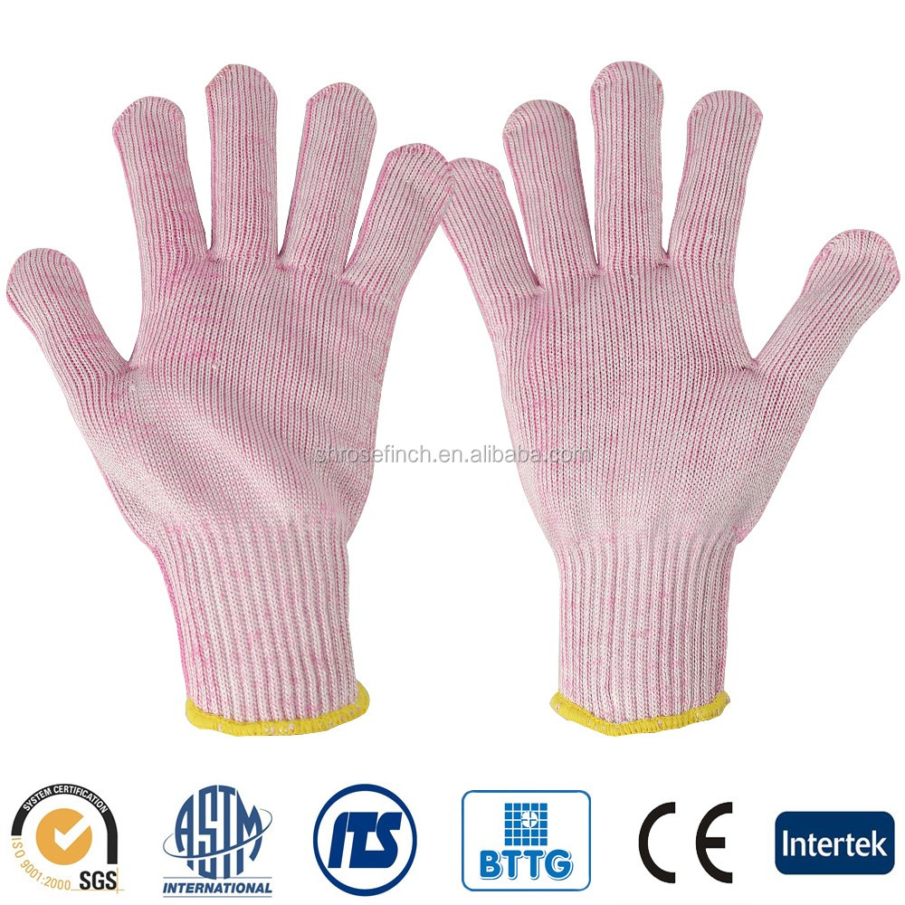 Anti- Cut Bamboo fiber HPPE Antimicrobial anti sweat ANSI 5 Cutters Glove Protective Breathable Gloves