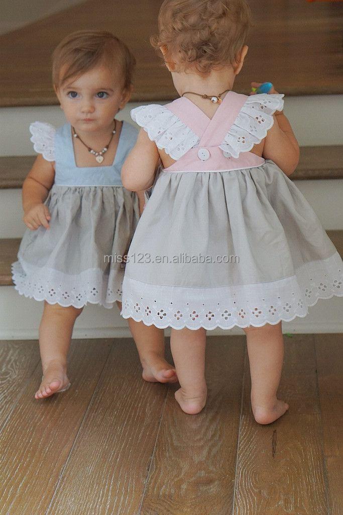 Good Quality Baby Girls Pinafore Princess Dress Eyelet