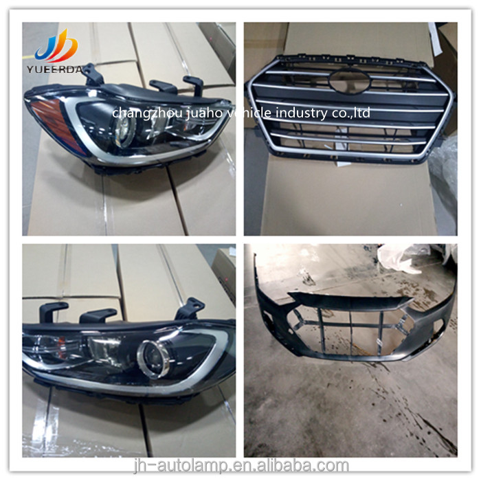 NEW car accessories auto parts for elantra 2016 2017 head lamp,grille,bumper,fog lamp